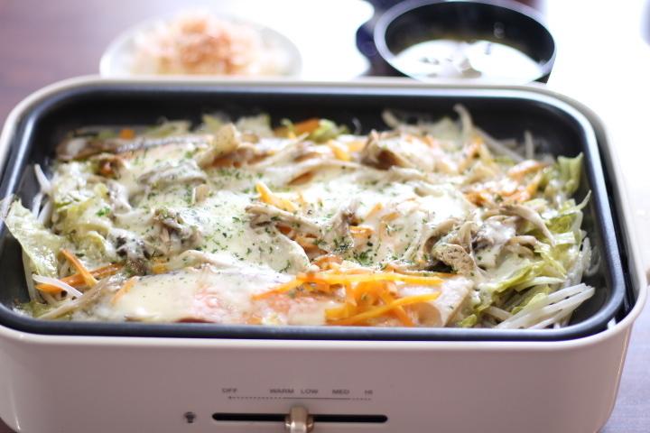 秋サケと野菜たっぷりチーズ蒸し