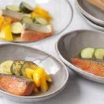 夏野菜と鮭の甘酢漬け