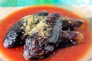 揚げなすのトマトだれ